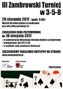 III ZAMBROWSKI TURNIEJ W 3-5-8. Zambrów 20.08.2017r.