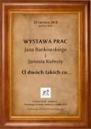 Wernisaż wystawy Jana Bańkowskiego i Janusza Kuleszy 22.06.2018 r. MOK Zambrów
